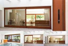 Corrediza : Puertas y ventanas de estilo moderno por Lens Puertas de Aluminio.