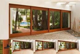 Corrediza 4 Hojas: Puertas y ventanas de estilo moderno por Lens Puertas de Aluminio.
