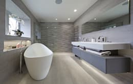 Mulberry: modern Bathroom by The Wood Works