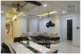 Flat Interior Design for PINKY AGARWAL: modern Living room by KAM'S DESIGNER ZONE