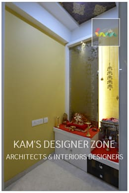 Flat Interior Design for PINKY AGARWAL:  Walls by KAM'S DESIGNER ZONE