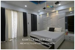 Flat Interior Design for PINKY AGARWAL: modern Bedroom by KAM'S DESIGNER ZONE