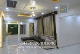 Home Interior Design for PREETI AGARWAL: modern Living room by KAM'S DESIGNER ZONE