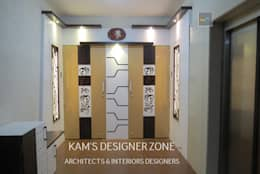 Home Interior Design for PREETI AGARWAL: modern Houses by KAM'S DESIGNER ZONE