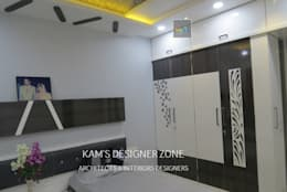 Home Interior Design for PREETI AGARWAL: modern Bedroom by KAM'S DESIGNER ZONE