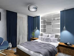 غرفة نوم تنفيذ SKAZANI NA DESIGN Studio Architektury