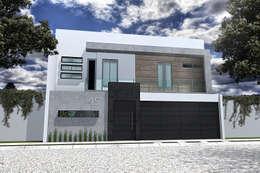 FACHADA DIA : Casas de estilo moderno por Residenza by Diego Bibbiani