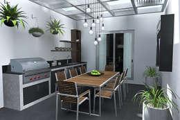 TERRAZA CON PERGOLA : Terrazas de estilo  por Residenza by Diego Bibbiani