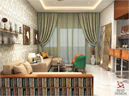 LIVING ROOM - VIEW 1: minimalistic Living room by MAD DESIGN
