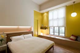 Dormitorios de estilo escandinavo de 吉畝室內裝修有限公司