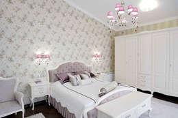 Дом в стиле прованс: Спальни в . Автор – дизайн-студия ПРОСТРАНСТВО ДИЗАЙНА