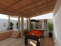 Espaço Gourmet Rústico: Garagens e edículas rústicas por iost arquitetura