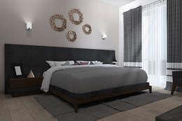 RECAMARA PRINCIPAL : Recámaras de estilo moderno por Residenza by Diego Bibbiani