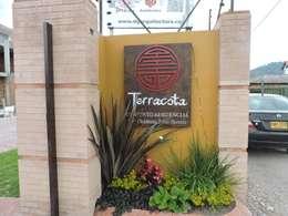 ENTRADA CONJUNTO : Jardines de estilo moderno por DG ARQUITECTURA COLOMBIA