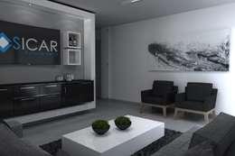 SALA MULTIMEDIA : Edificios de Oficinas de estilo  por Residenza by Diego Bibbiani