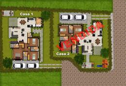 Casas de estilo rural por DG ARQUITECTURA COLOMBIA