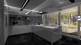 Cocina Minimalista: Cocinas de estilo minimalista por Diseño de Locales