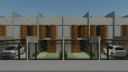 Casa Limão #2: Casas industriais por Studio Escala Arquitetura e Interiores