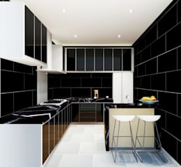 Kitchen 3D Design #6:  ห้องครัว by SIAMTAK CO., LTD.