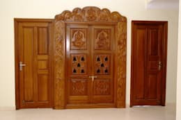 Wooden Pooja Mandir Online Shopping: asian Living room by Scale Inch Pvt. Ltd.