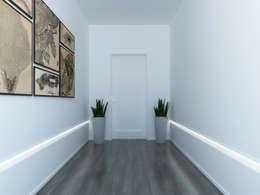 modern Corridor, hallway & stairs by Eleni Lighting