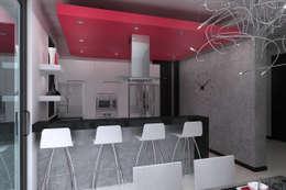 Cozinhas minimalistas por Residenza by Diego Bibbiani