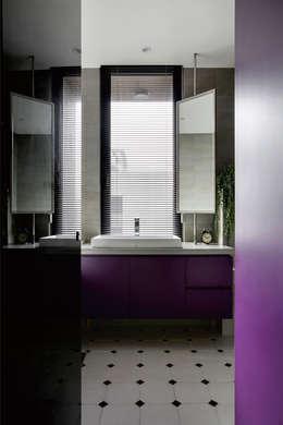 個性mix色感宅:  浴室 by 釩星空間設計