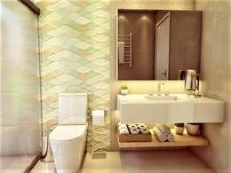 Banheiro aberto à natureza: Banheiros modernos por D Lange Interiores