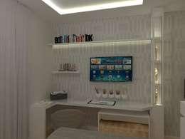 Projekty,  Sypialnia zaprojektowane przez AJR ARQUITETURA