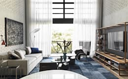 modern Living room by DIEGO REVOLLO ARQUITETURA S/S LTDA.