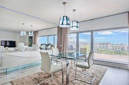 Sala - zona de refeições: Salas de jantar modernas por menta, creative architecture