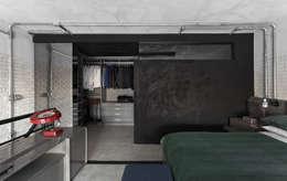 Projekty,  Sypialnia zaprojektowane przez DIEGO REVOLLO ARQUITETURA S/S LTDA.