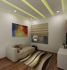 minimalistic Media room by A Design Studio