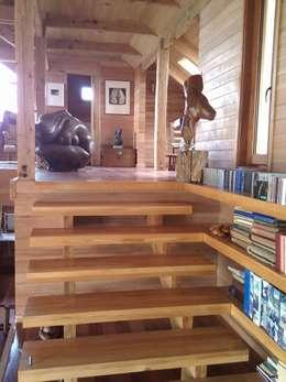 Casa Estudio Spinelli: Pasillos y hall de entrada de estilo  por Dušan Marinković - Arquitectura