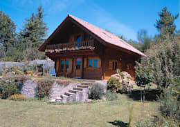 Casas de madera de estilo  por Rusticasa