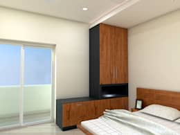 Guest Bed Room - Wardrobe: minimalistic Bedroom by FORTUNE DECOR