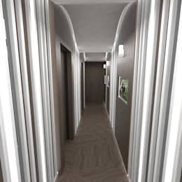 Corridor & hallway by TheeAe Architecture & Interior Design Limited