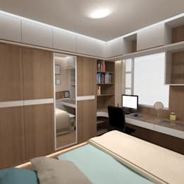 modern Bedroom by TheeAe Architecture & Interior Design Limited