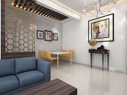 Dining area: minimalistic Dining room by The inside stories - by Minal