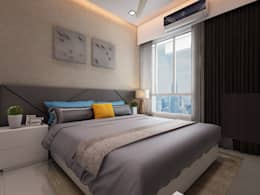 Master bedroom: modern Bedroom by The inside stories - by Minal