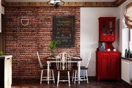 Cocinas de estilo industrial por Студия дизайна Interior Design IDEAS