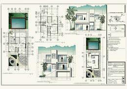 desarrollo proyecto ejecutivo: Casas de estilo moderno por 3h arquitectos