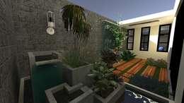 Vivienda Unifamiliar: Jardines de estilo moderno por N.A. ARQUITECTURA