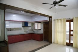 L Shaped Indian Kitchen Designs: asian Kitchen by Scale Inch Pvt. Ltd.