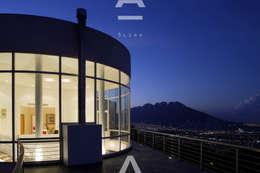 Teocalli: Casas de estilo moderno por Álzar