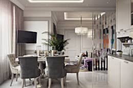 غرفة السفرة تنفيذ Дарья Баранович Дизайн Интерьера