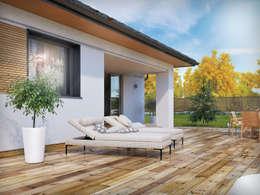 Wizualizacja projektu domu Dedal: styl , w kategorii Taras zaprojektowany przez Biuro Projektów MTM Styl - domywstylu.pl