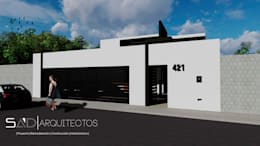 Fachada Principal Exterior: Casas de estilo moderno por Studio Arch'D Arquitectos