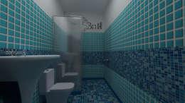 Residential Duplex Villa: modern Bathroom by BNH DESIGNERS