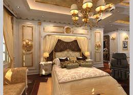 غرفة نوم تنفيذ CÔNG TY CP XÂY DỰNG VÀ KIẾN TRÚC ĐẤT VIỆT